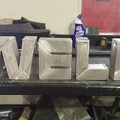 Letters welded out